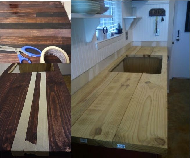 How To Refinish Your Kitchen Counter Tops For Only $30! Cheap CountertopsDiy  Butcher Block ...