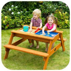 Attirant Plum Sand And Water Wooden Picnic Table