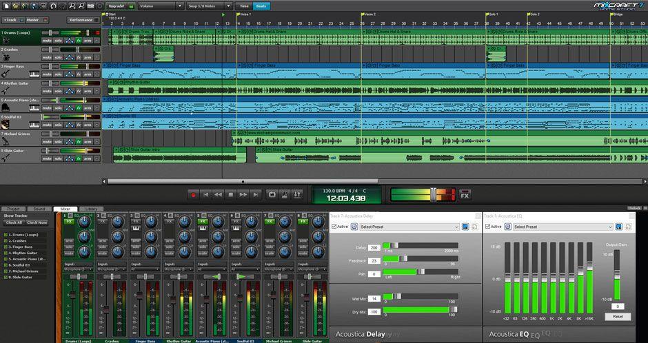 Music Making Software Mixcraft 8 Home Studio