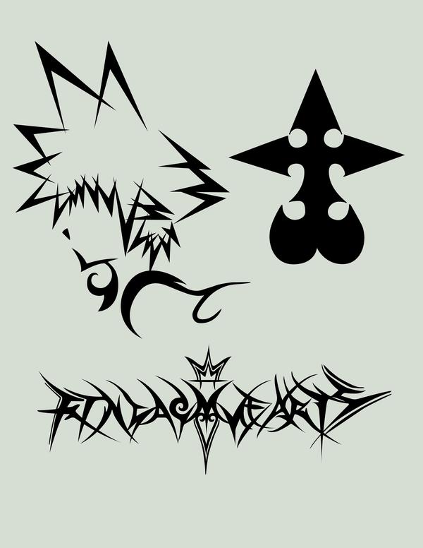 Kingdom Hearts tattoos? I love the idea of the Sora outline ...