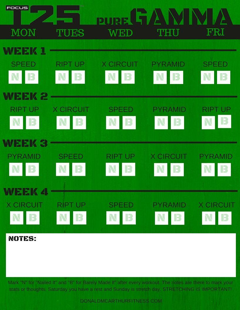 Focus T25 - Gamma ( Pure Gamma Calendar ) - Donald McArthur