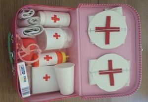 Homemade Play First Aid Kit For Kids Craft Activities For Kids Crafts For Kids Crafts