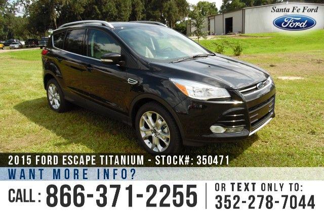 2015 Ford Escape Titanium Sport Utility Vehicle 2 0 L Gtdi
