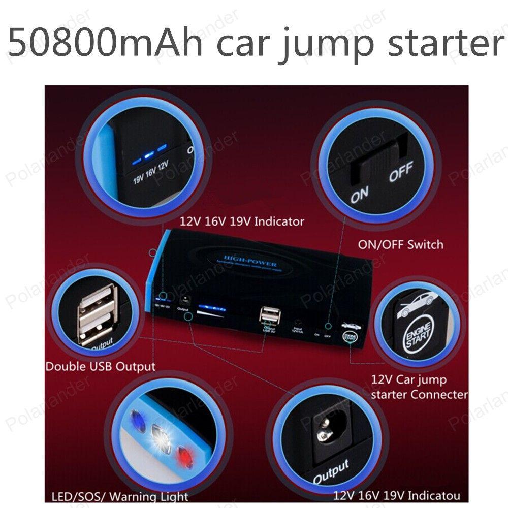 Car power bank car emergency battery jump starter and