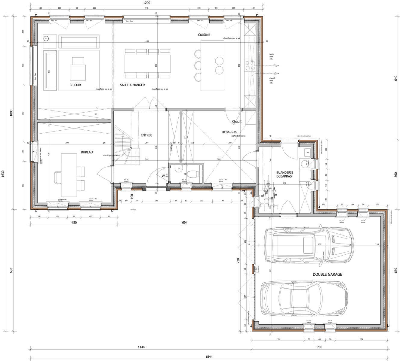Plattegrond van een woning gelijkvloers for Plattegrond woning