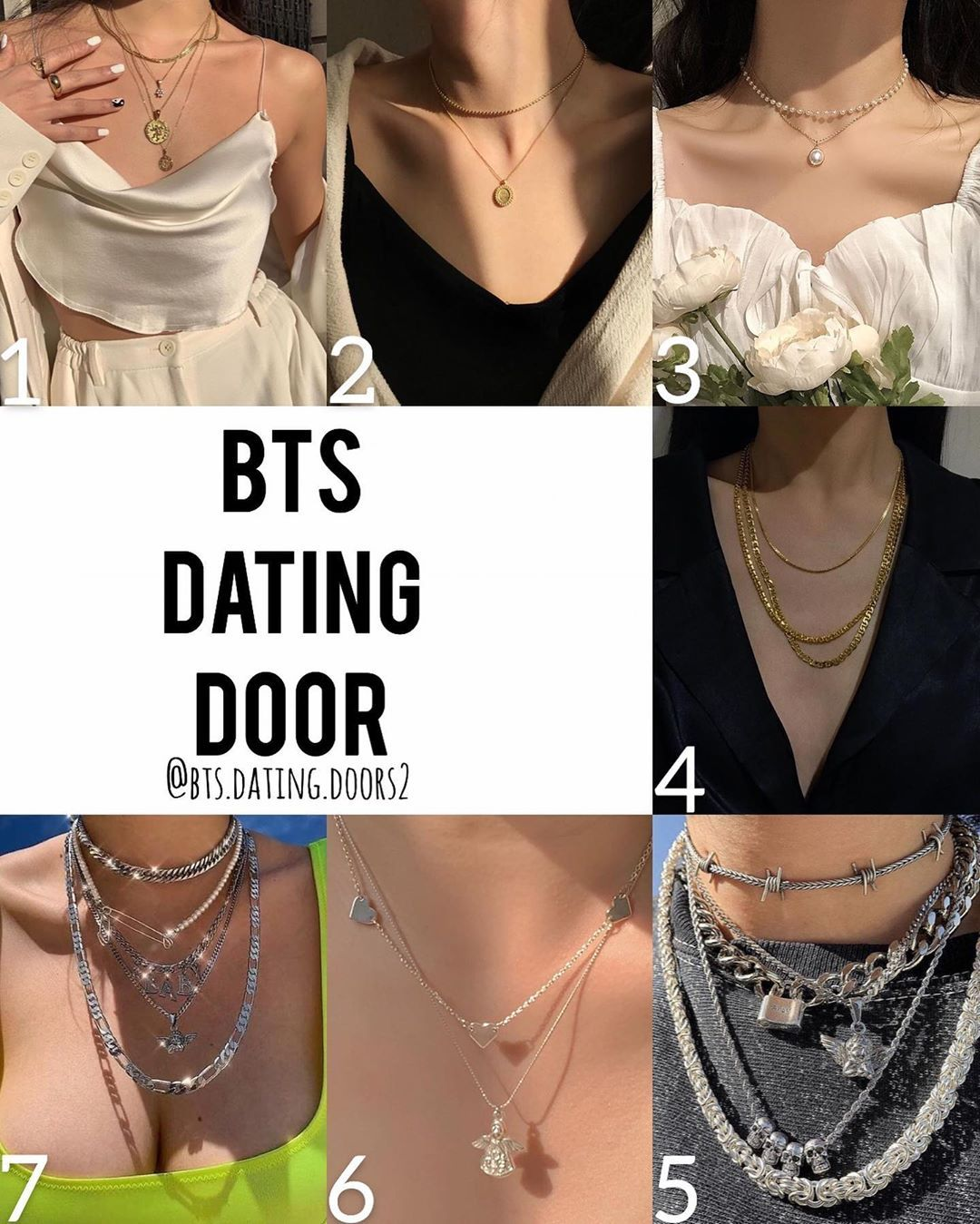 Which necklace is your favorite?🌟 swipe to see who you got🍃 : . : None of the photos used in my dating doors are mine. Credit for all the photos used in my dating doors goes to the original creators. : #bangtansonyeondan #bangtan #bangtanboys #bts #방탄소년단 #btsdatingdoors #kimnamjoon #kimseokjin #minyoongi #junghoseok #parkjimin #kimtaehyung #jeonjungkook #rm #jin #suga #jhope #jimin #taehyung #jungkook #btsdatingdoor #kpop #army #kpopdatingdoors #jewelry #necklace