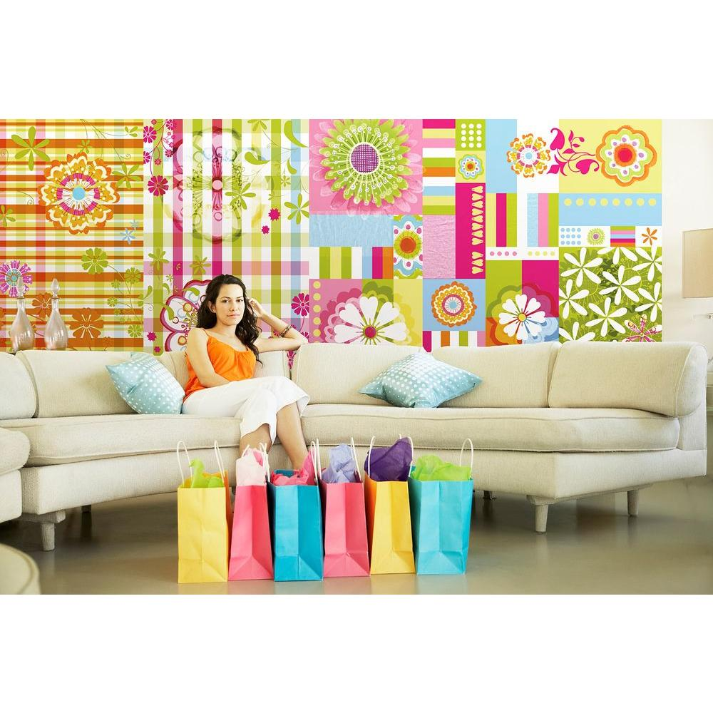 Komar 50 in. x 72 in. Mix and Match Wall Mural Striped