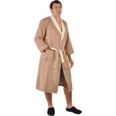 Click Image Above To Purchase: Chadsworth & Haig Ultimate Doeskin Robe - Sedona/eggshell