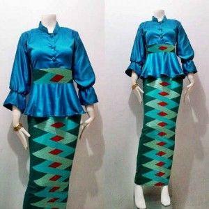 Batik Stelan Kombinasi Dengan Rok Motif Rangrang Busana Batik