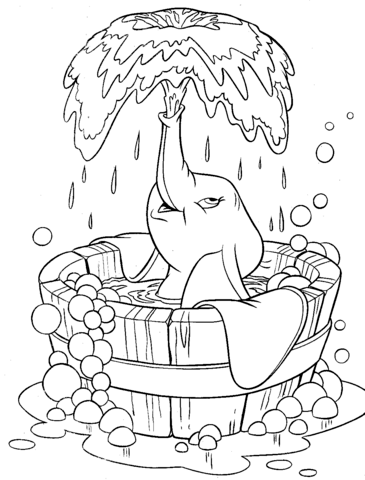 Cute Dumbo coloring page | Free Printable Coloring Pages | 480x365