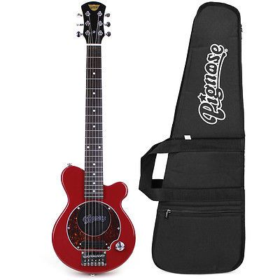 Pignose Pgg 200 Mini Electric Guitar W Built In Amp Gig Bag Candy Apply Red Electric Guitar Kits Fender American Guitar Kits