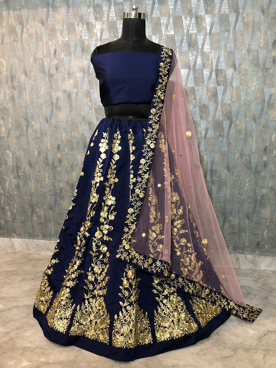 f9232c6541 *Lehnga: Tapeta Silk* *Work : Zari Embroidery* *Inner : Inner Silk* *Type :  Semi-Stitched* *Blouse Febric : Tapeta Silk* *Work :Zari Embroidery* *Size  : 44 ...