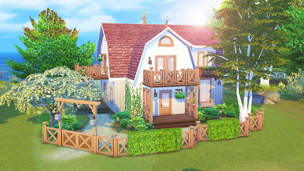 Aveline Seaside House Just Wanted To Build Something Aveline Build House Seaside Wanted Sims 4 Houses Sims House Sims