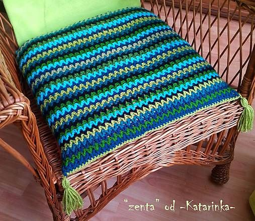 "handmade by -Katarinka- /  ""zenta"" / háčkovaný vankúš - cuscino all´uncinetto - crocheted cushion"