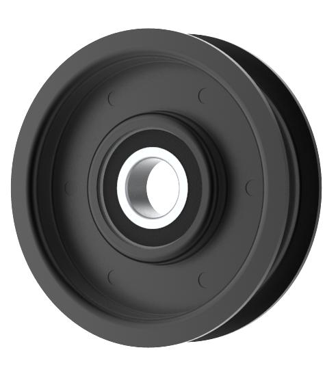 Flat Idler Pulley 3'' Flat Dia. 17mm Bore Steel