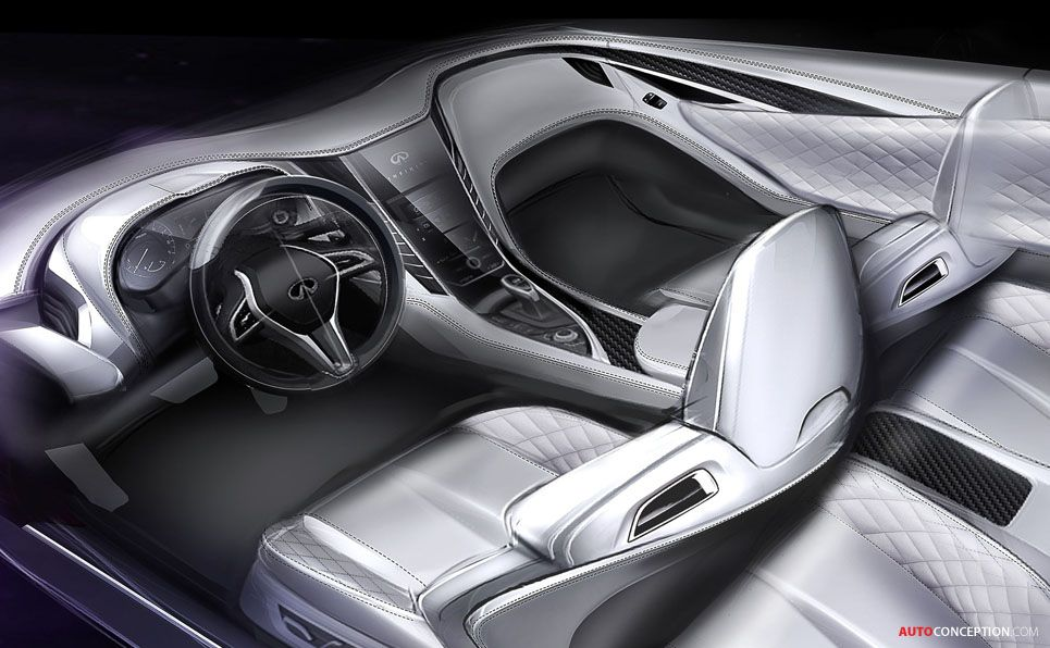 infiniti q60 concept unveiled in detroit int pinterest detroit car interiors and interiors. Black Bedroom Furniture Sets. Home Design Ideas