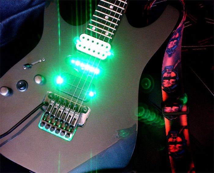 LED guitar mod - pics inside :) - Home Recording forums | White ...
