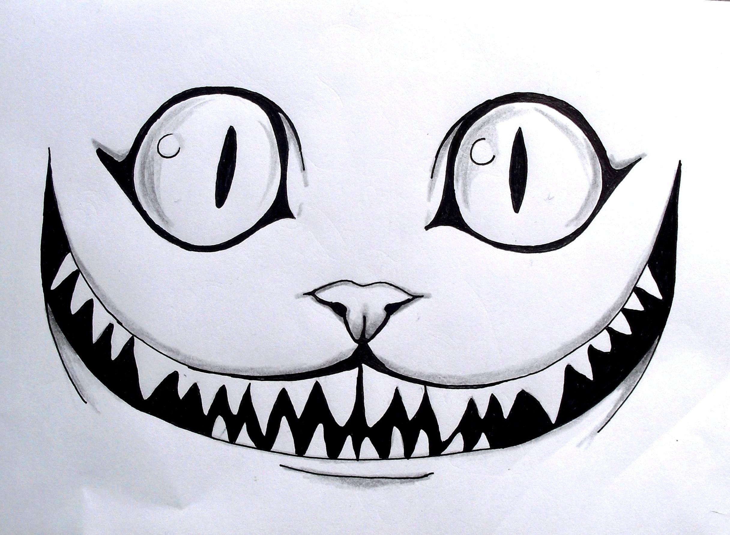 le chat des merveilles dessin crayon drawing aliceinwonderland cat smile dessins au. Black Bedroom Furniture Sets. Home Design Ideas