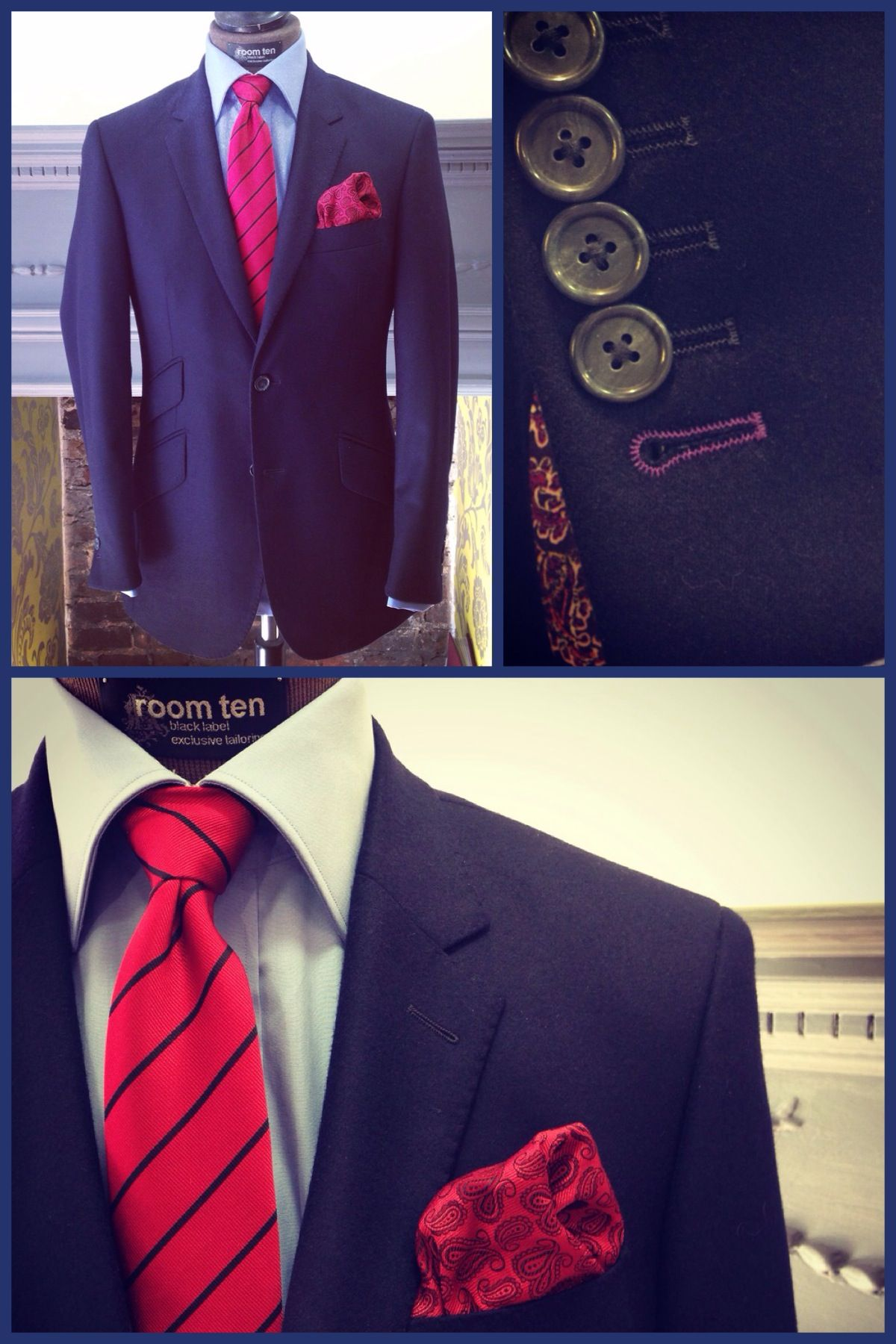 Men's outfits with flannel  Dolomiteus two piece suit   Sizes Available   Navy
