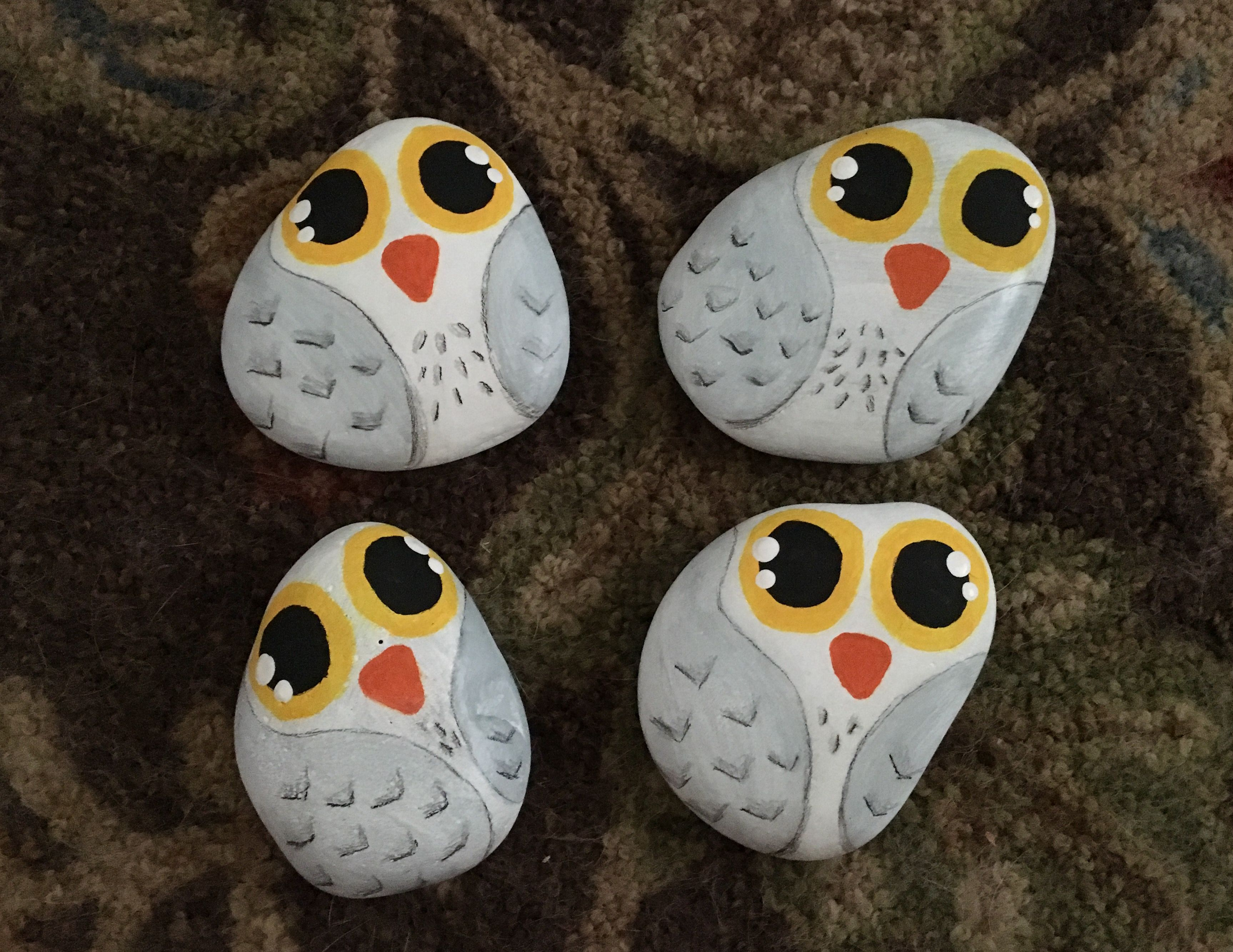 Harry Potter Series Owl Hedwig Rock Painting Find Us On Facebook At Northeast Ohio Rocks Northeas Painted Rocks Kids Painted Rocks Owls Rock Painting Supplies