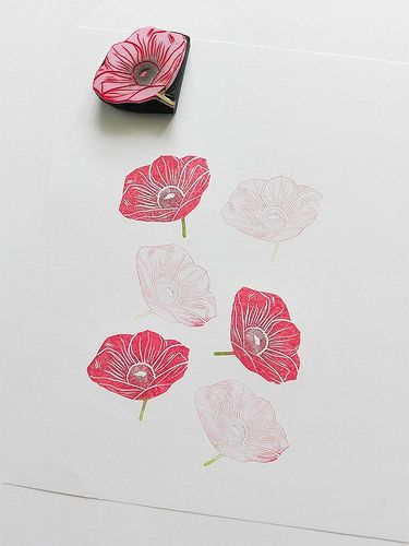 flower cut and print pinterest drucktechnik stempel und basteln mit kindern. Black Bedroom Furniture Sets. Home Design Ideas