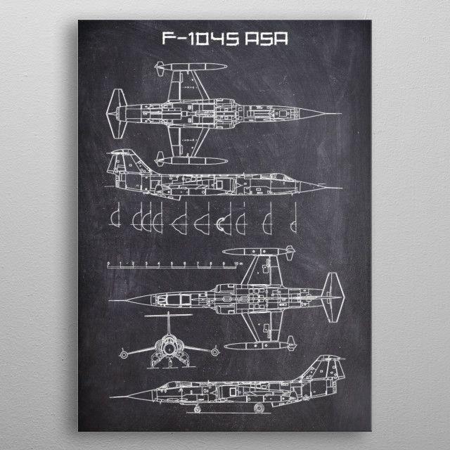 F104S ASA by FARKI15 DESIGN | metal posters - Displate | Displate thumbnail