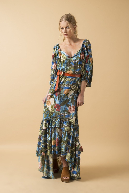086a1816d Vestido Longo Estampado - Novidades
