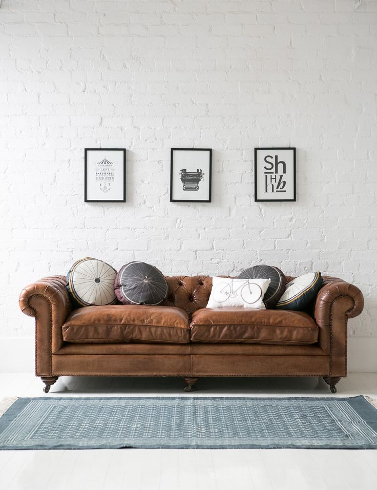 30x verschillende woonkamerstijlen | Chesterfield, Leather ...