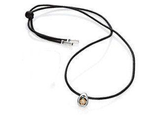 77251e00e Pandora 100cm leather lariat with silver ends - Pandora code ...
