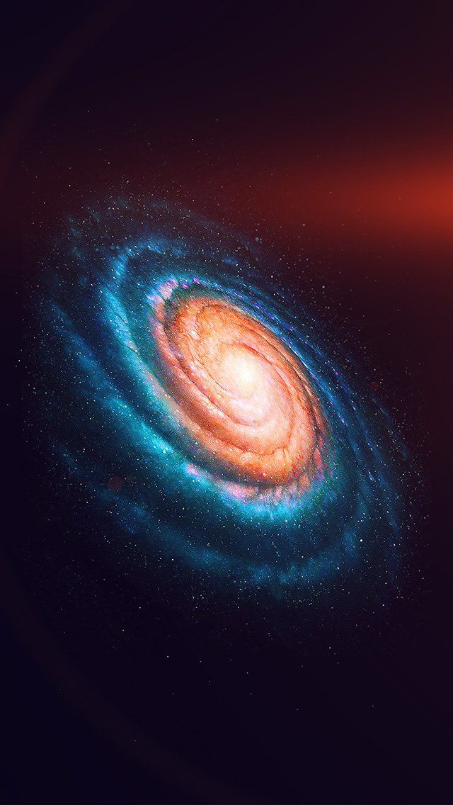 Space Galaxy Dark Rainbow Night Star Flare IPhone 5s Wallpaper
