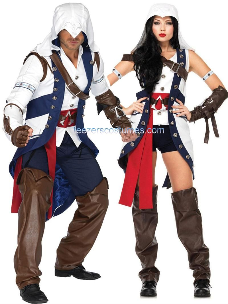 Couples Costumes, CouplesCostumes Adult Halloween Costumes  Halloweencostumescouples, Assassins Creed Connor Couples Costumes