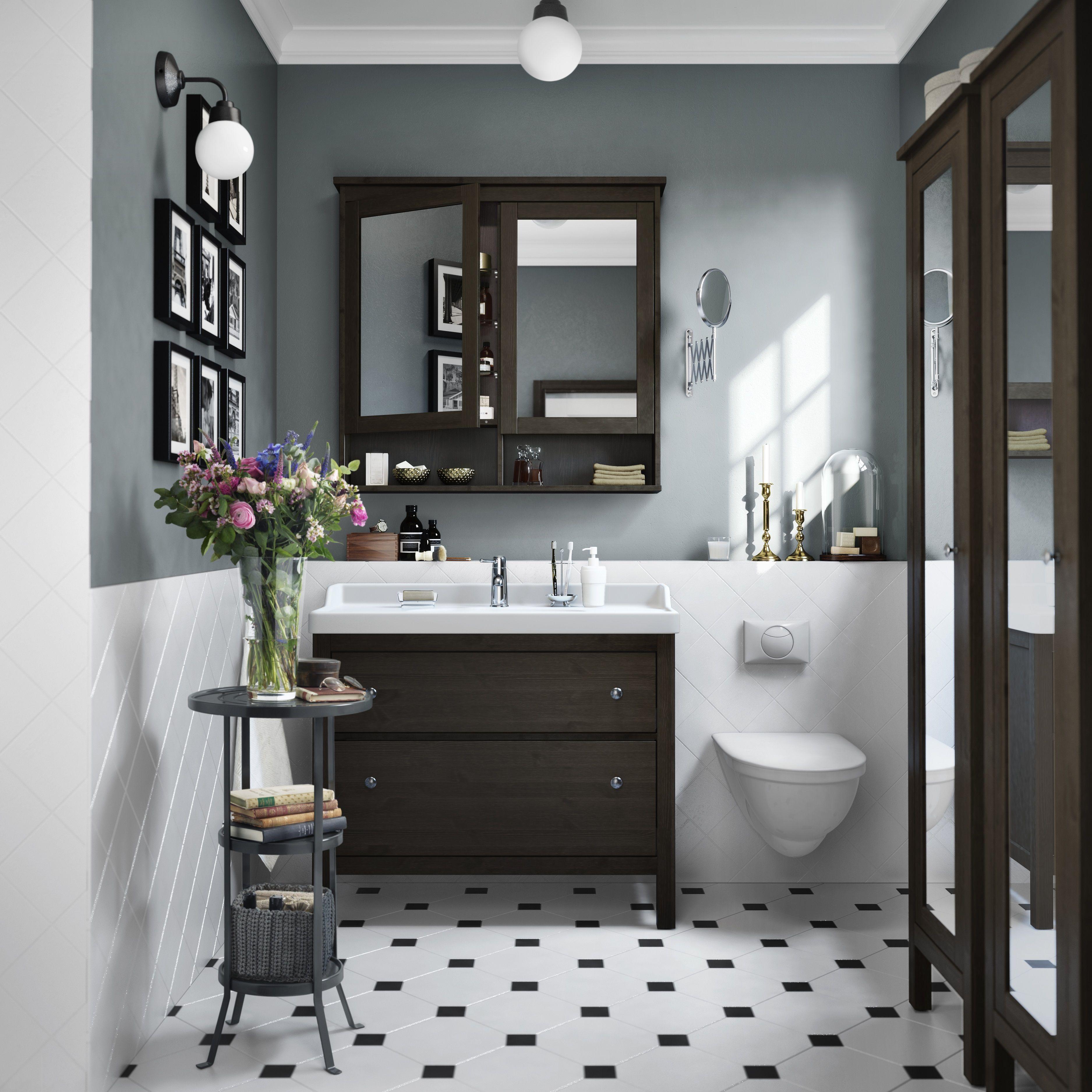 HEMNES / ODENSVIK wastafel | #IKEA #IKEAnl #zwartbruin #badkamer ...