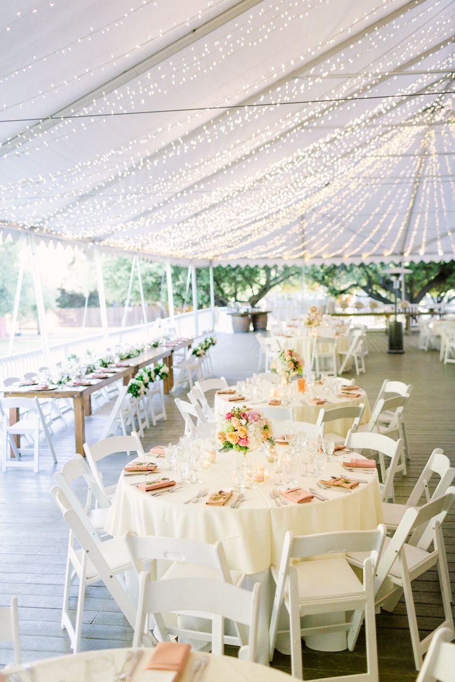 Wedding tent decoration images  Romantic Summer Wedding at Calamigos Ranch  Reception Weddings and