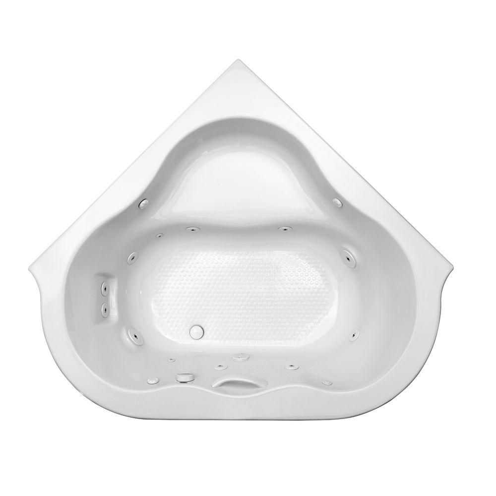 American Standard EverClean 77 in. Acrylic Corner Drop-in Whirlpool ...
