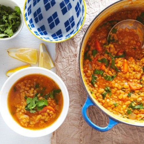 Winter's not over yet. We still need soup to make it through. Coconut Lentil Soup is the perfect way to warm up at dinner or lunch.