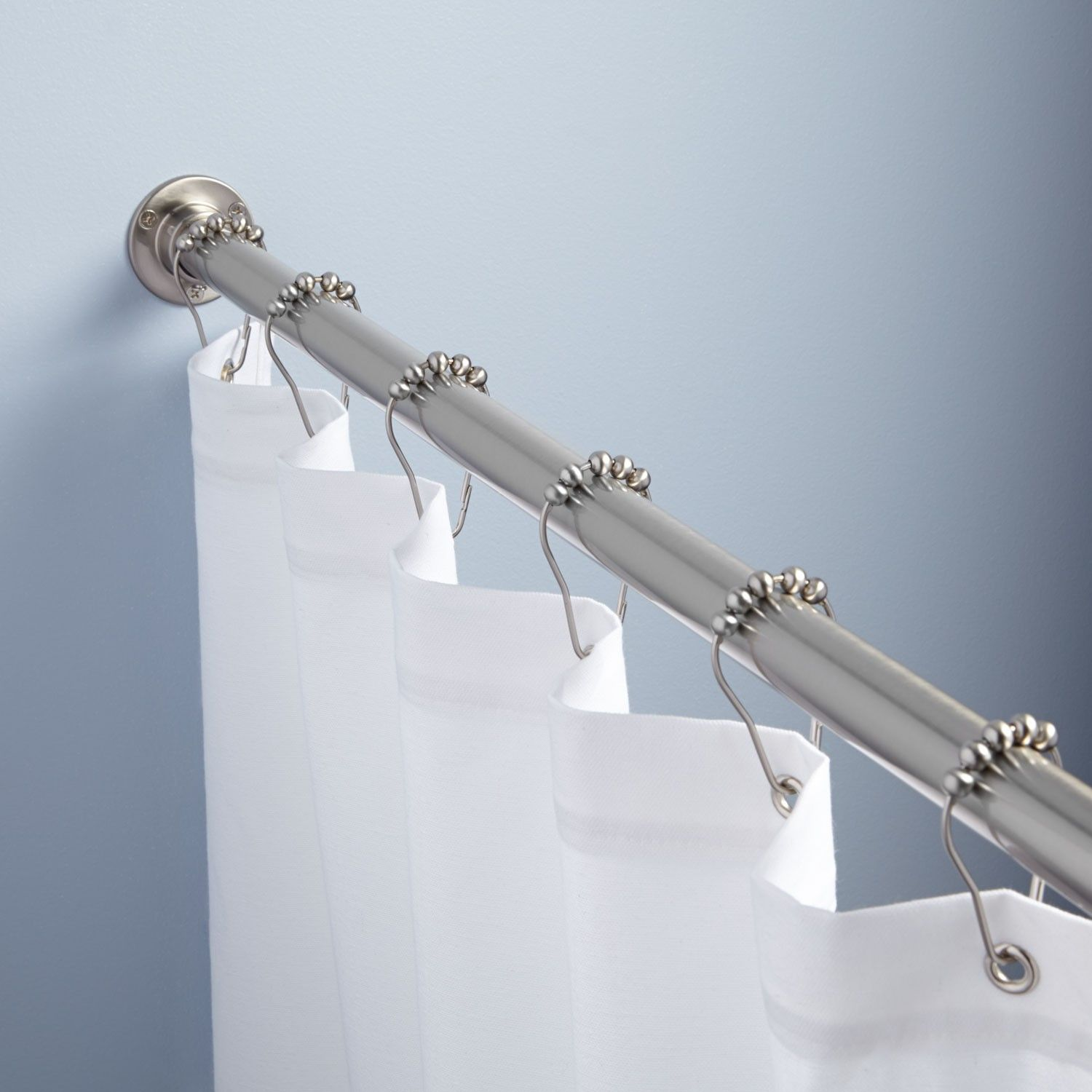 Straight Solid Brass Shower Curtain Rod | Shower curtain rods, Solid ...