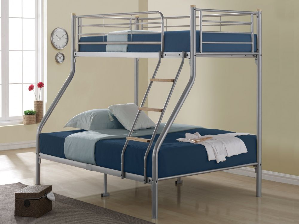 High Up Beds Part - 39: This Bonsoni Triple Sleeper Nexus Bunk Bed Frame Silver Is A Beautiful  Piece Of Bed Demostrating The Bonsonis Unparallel Quality And Workmanship.