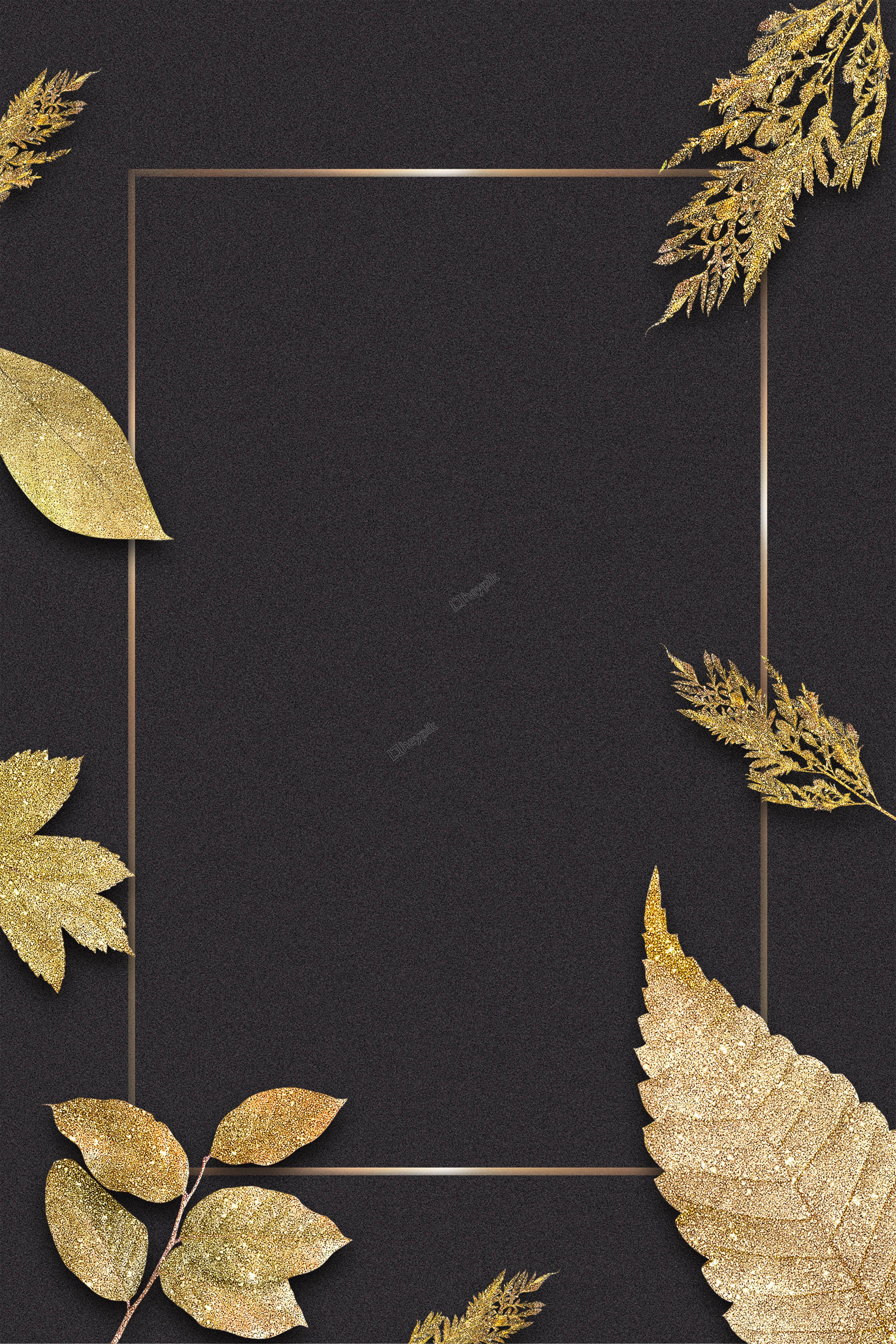 Black Gold Color Matching Plant Texture Gorgeous Minimalistic Business Border Backgr Plant Texture Poster Background Design Graphic Design Background Templates