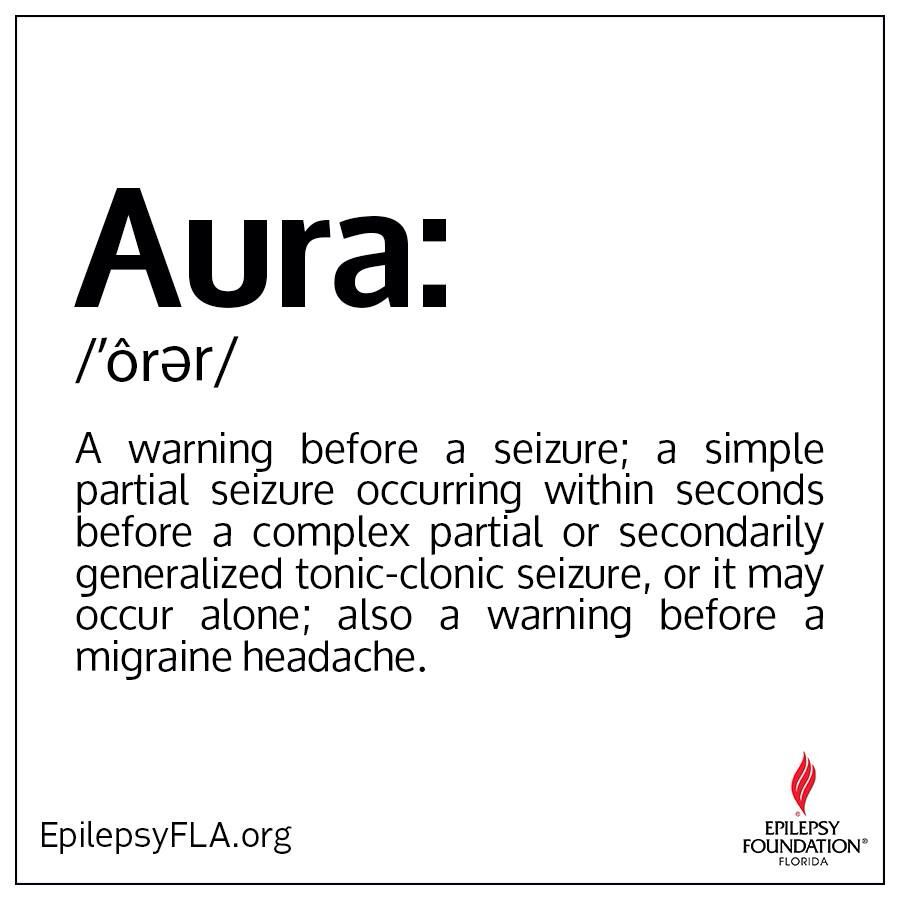 For me, the worst part of epilepsy is the aura. Feeling