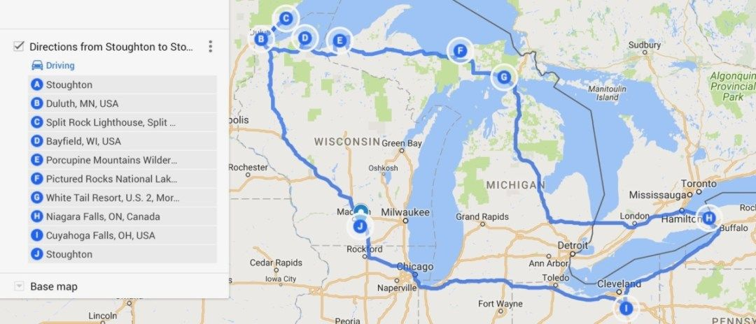 The Great Lakes Tour: A Circle Road Trip Itinerary   Road ...