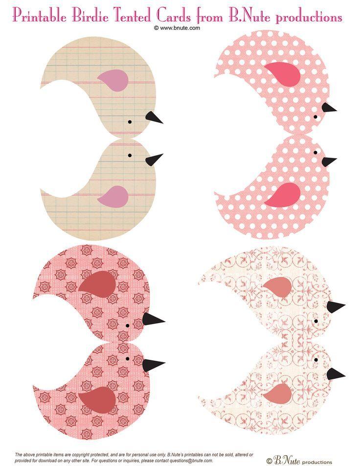pajaritos imprimibles de papel | primavera | Pinterest | Pajaritos ...