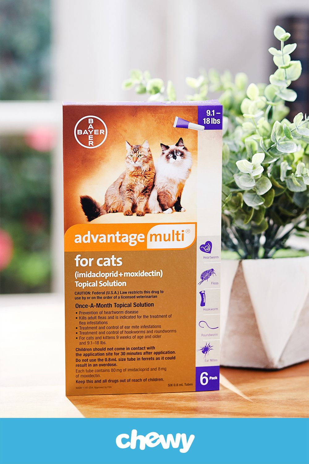 Advantage Multi For Cats Is A Topical Solution Prescribed By Veterinarians To Provide Pet Parents With A Convenient Mo Heartworm Medication Topical Cat Shampoo