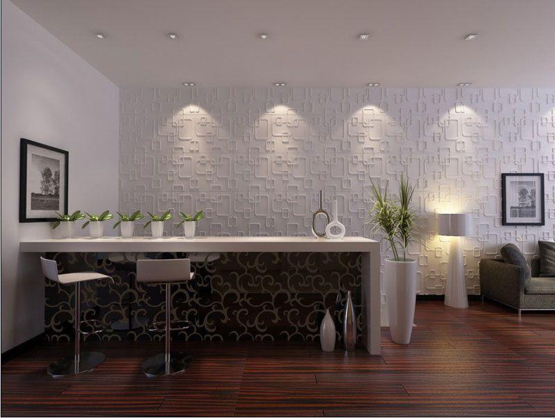 Decorative Wall Tile Panels 3D Wall Panels  Bamboo Pulp  #58  3D Wall Panels 3D Wall And
