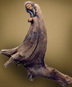 "Nancy Tuttle ""The Crone"" 12""- tall Pine"