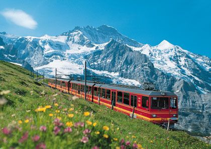 Jungfrau, Switzerland...looks gorgeous!! Tanja wants to visit Switzerland..this is where I want us to go:)