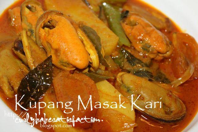 Kupang Masak Kari Curry Mussels Indiandish Seafood Curry Memasak Makanan Resep Masakan Asia