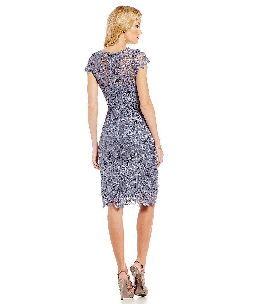 Js collections lace shift dress dillards clothing accessories and