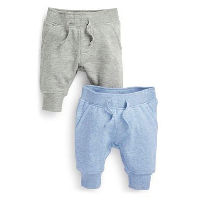 Lot de deux pantalons de jogging mouchetés (0 à 18 mois) - 3 Suisses