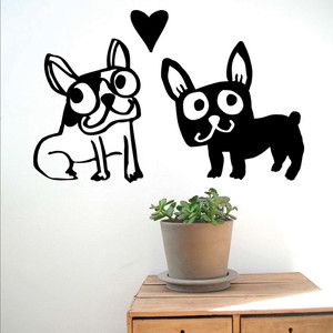 Love My Dogs Wall Sticker,  now featured on Fab.