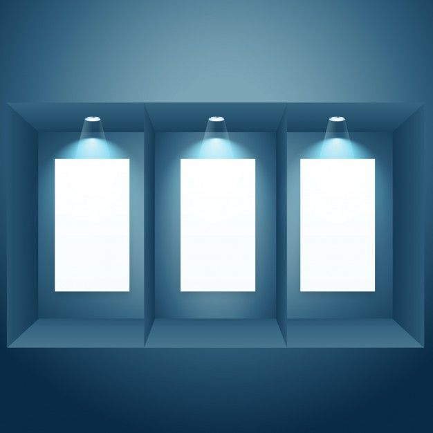 empty frames with spotlights - Empty Frames